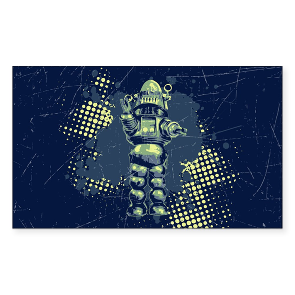 Robby the Robot Rectangle Sticker