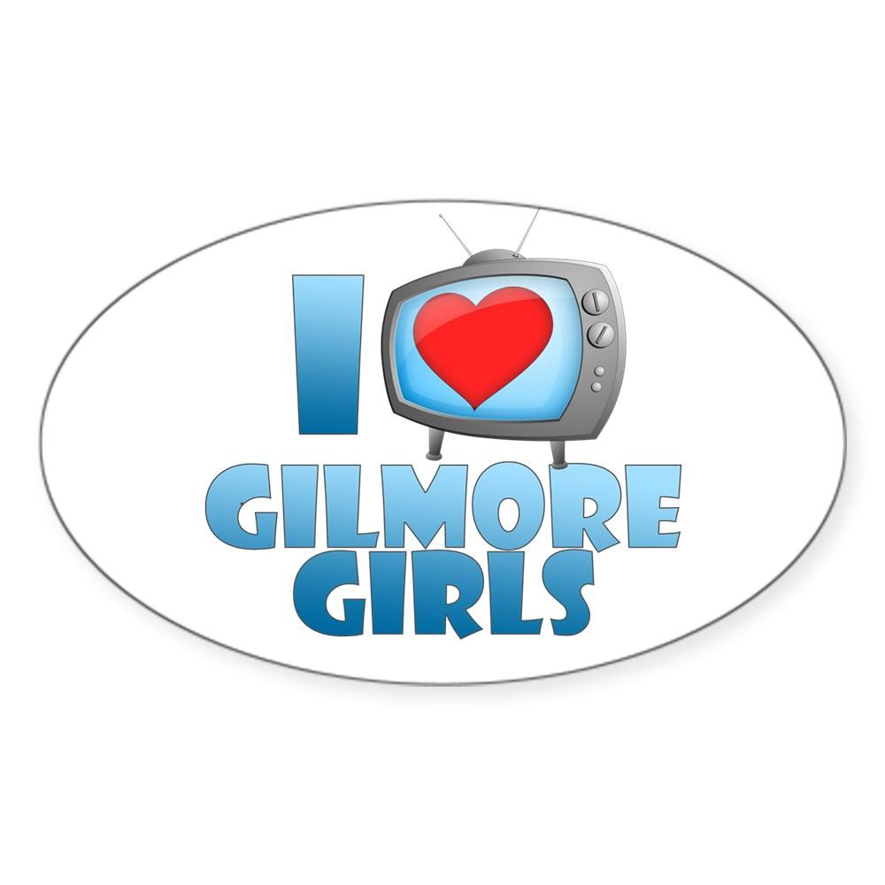 I Heart Gilmore Girls Oval Sticker