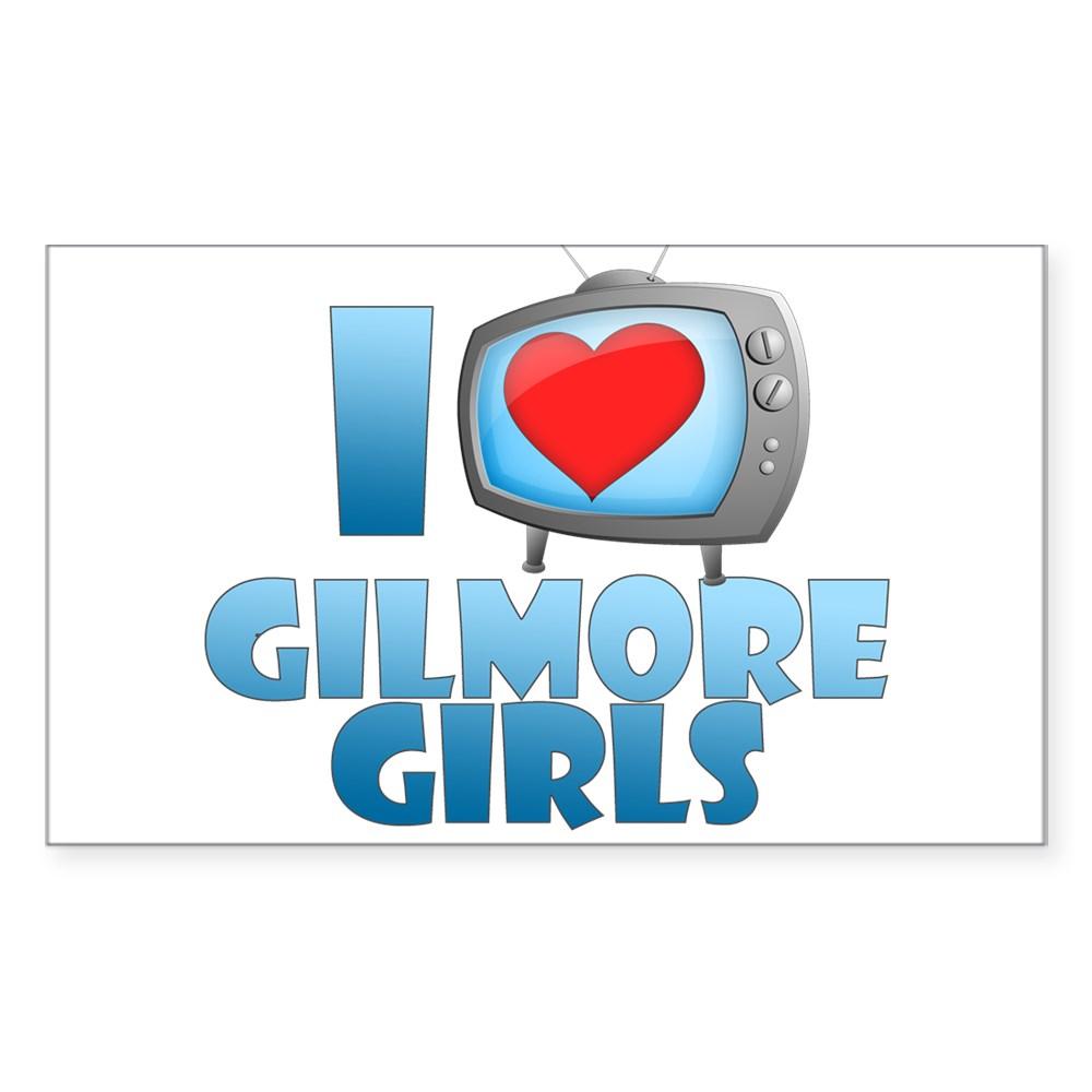 I Heart Gilmore Girls Rectangle Sticker