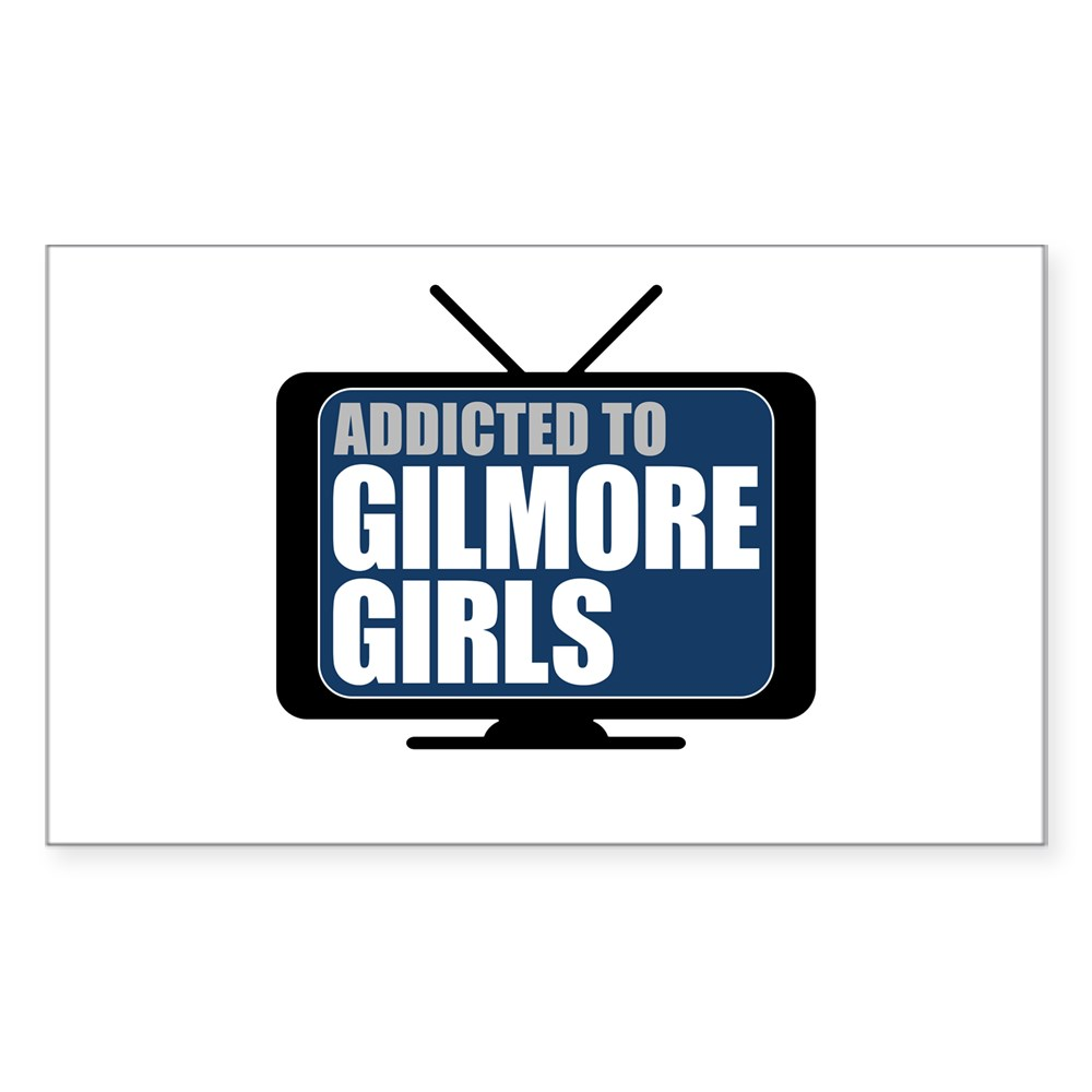 Addicted to Gilmore Girls Rectangle Sticker
