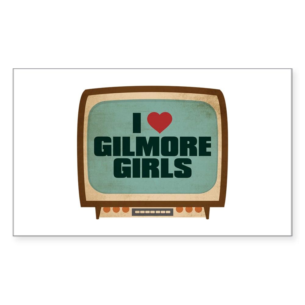 Retro I Heart Gilmore Girls Rectangle Sticker