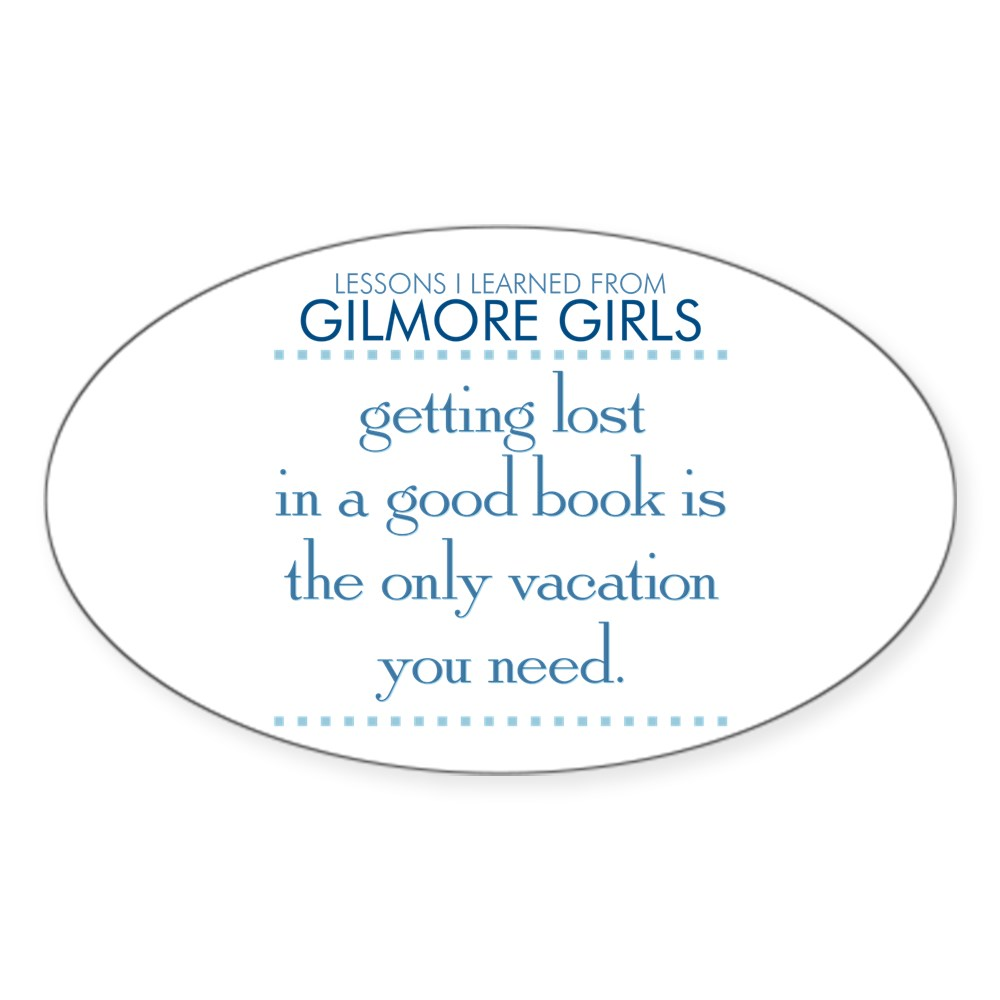 Getting Lost in a Good Book Oval Sticker