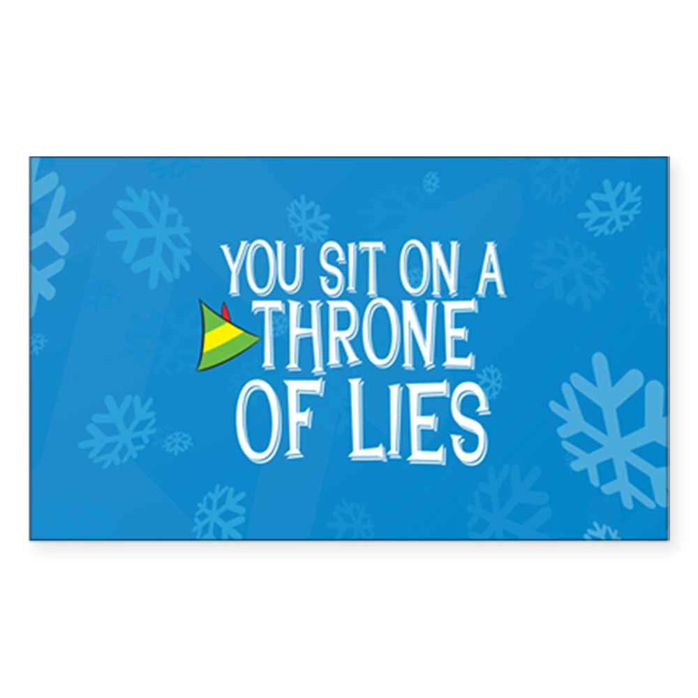 You Sit on a Throne of Lies Rectangle Sticker