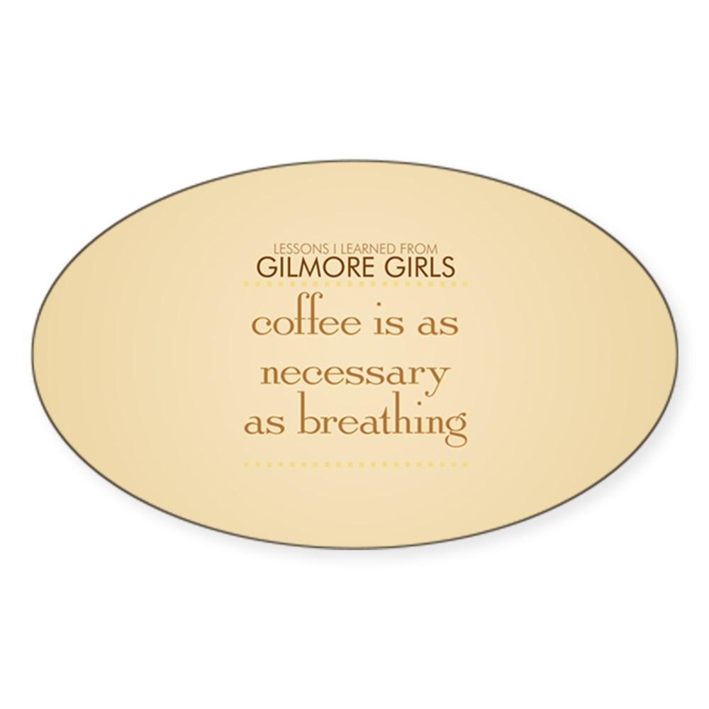 Coffee is Necessary Oval Sticker