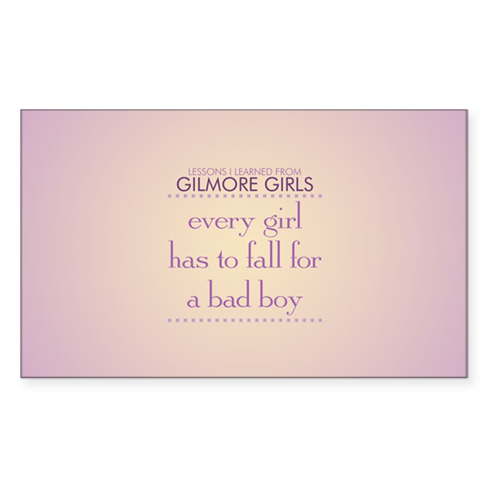 Fall for a Bad Boy Rectangle Sticker