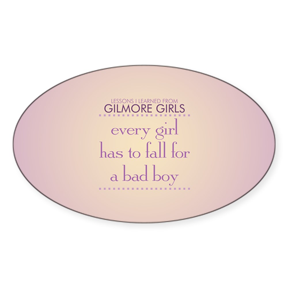 Fall for a Bad Boy Oval Sticker