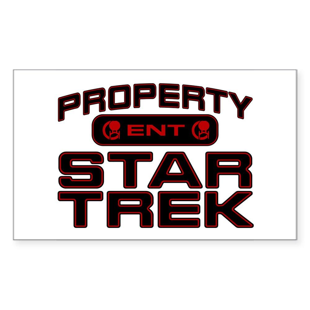 Red Property Star Trek - ENT Rectangle Sticker