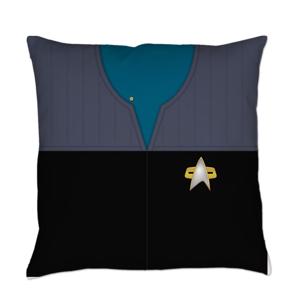 DS9 Starfleet Uniform: Science/Medical - Ensign Everyday Pillow