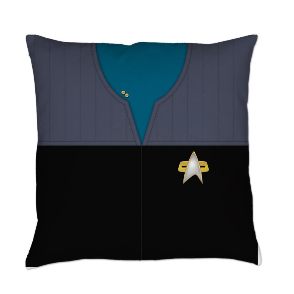 DS9 Starfleet Uniform: Science/Medical - Lieutenant Everyday Pillow
