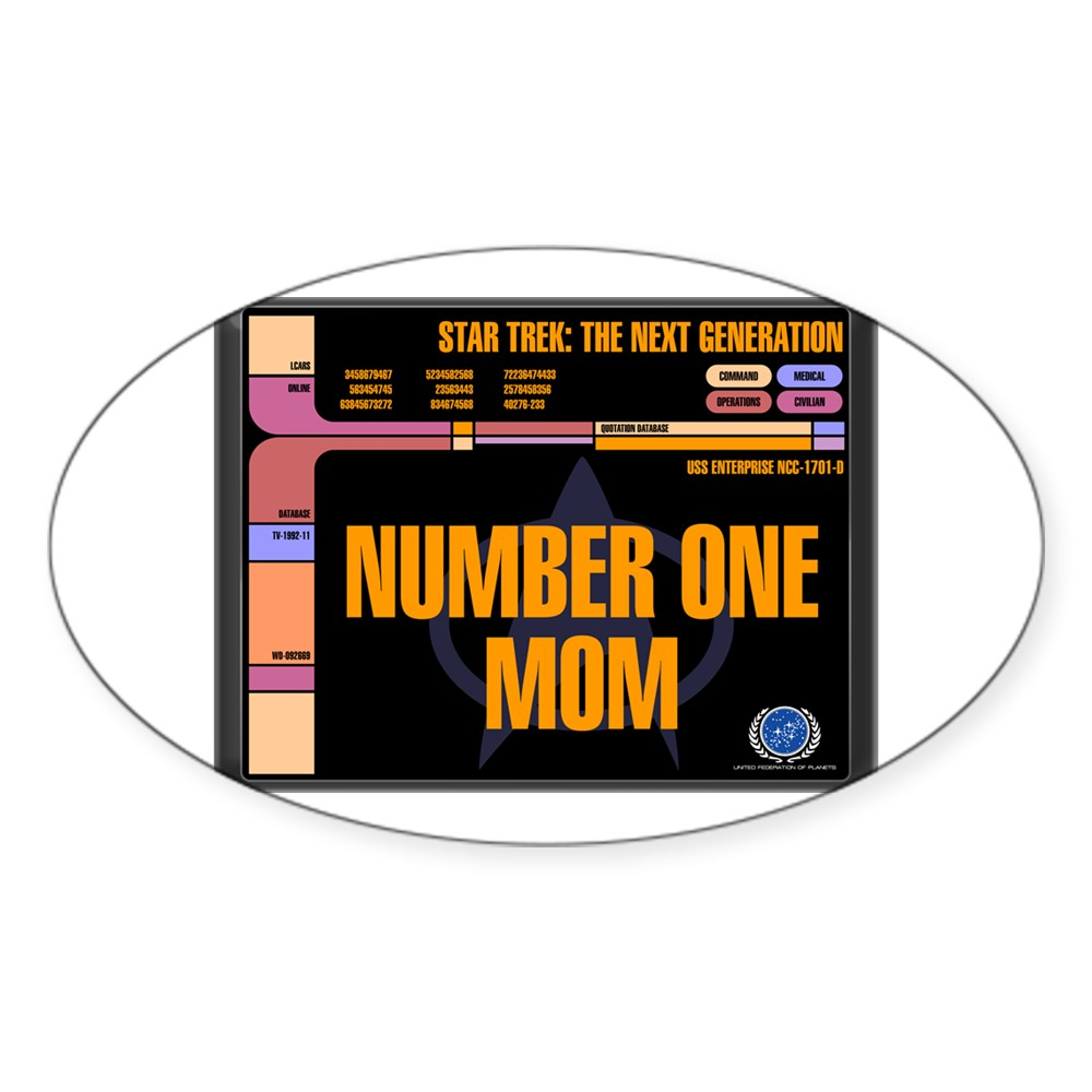 Number One Mom Oval Sticker