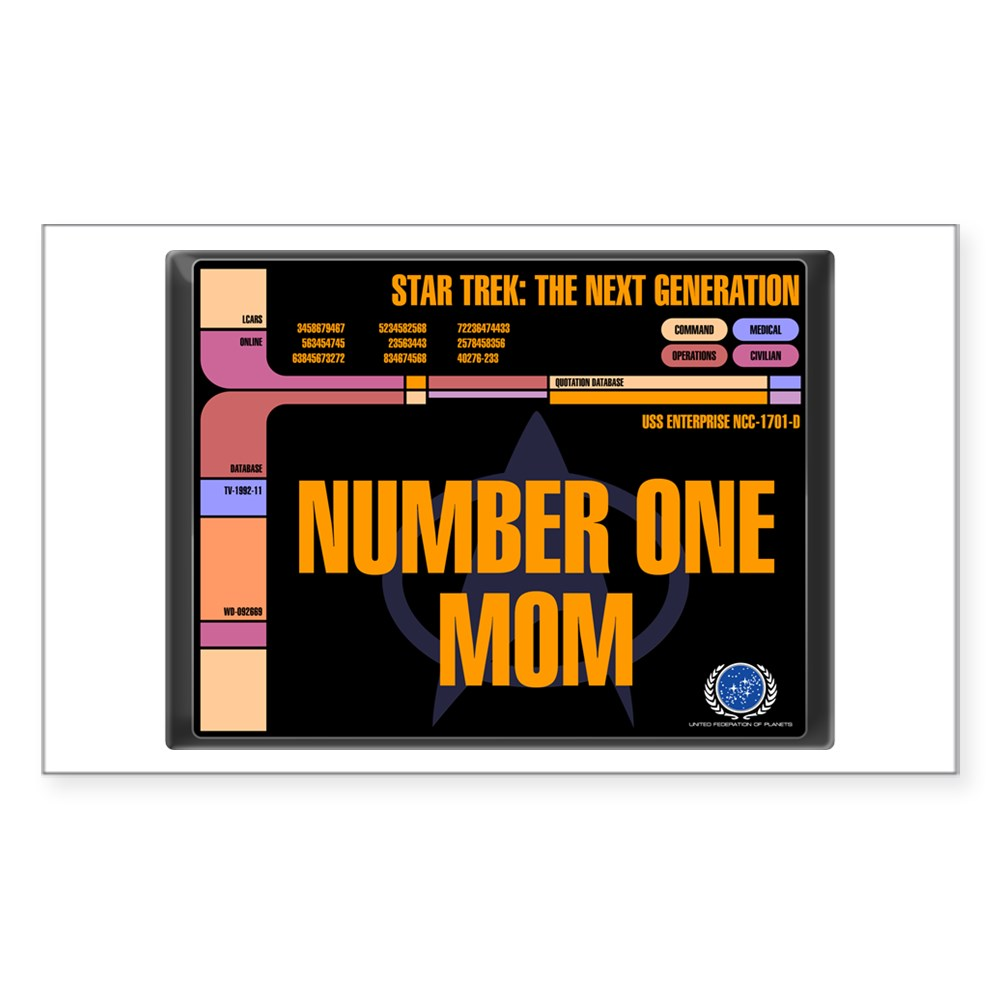 Number One Mom Rectangle Sticker
