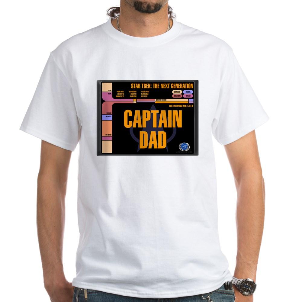 Captain Dad White T-Shirt