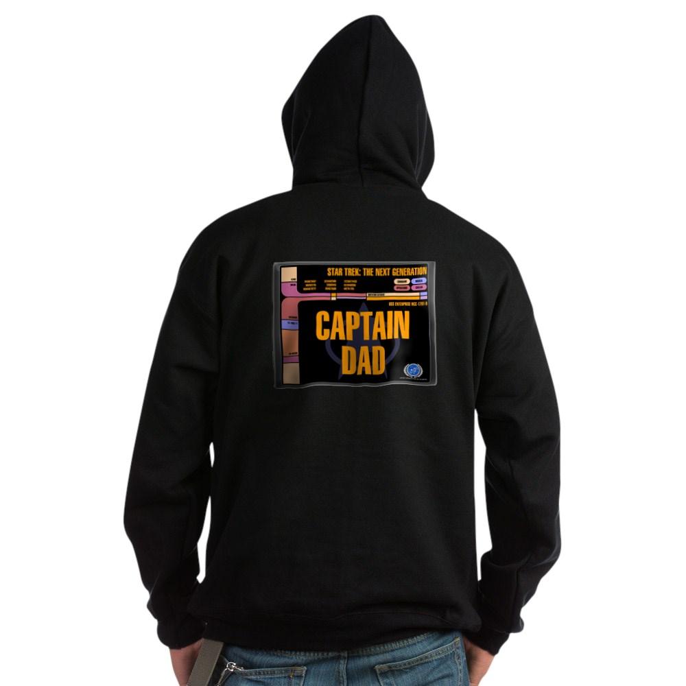 Captain Dad Dark Hoodie