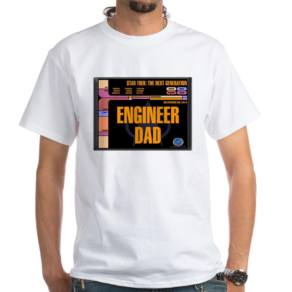 Engineer Dad White T-Shirt