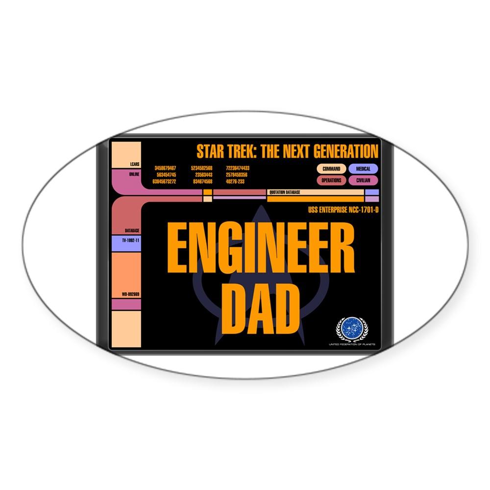 Engineer Dad Oval Sticker