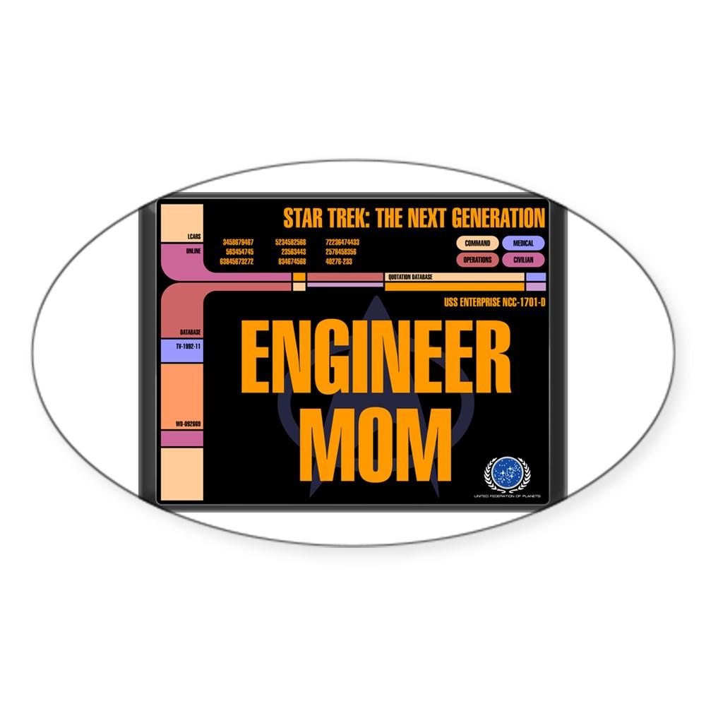 Engineer Mom Oval Sticker