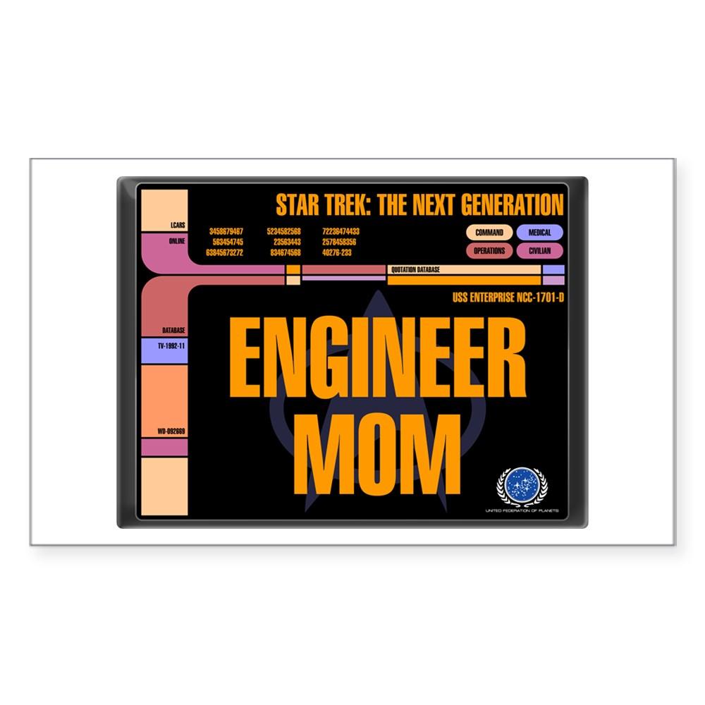 Engineer Mom Rectangle Sticker