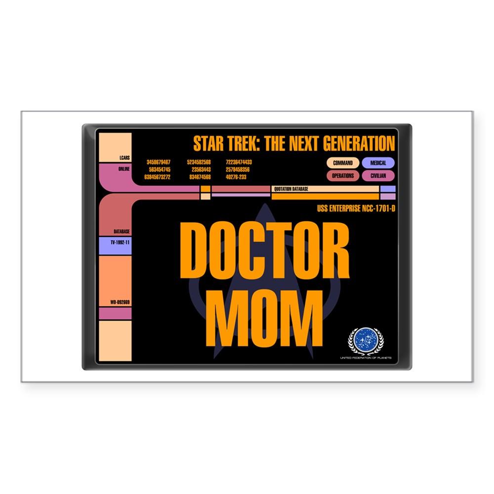 Doctor Mom Rectangle Sticker