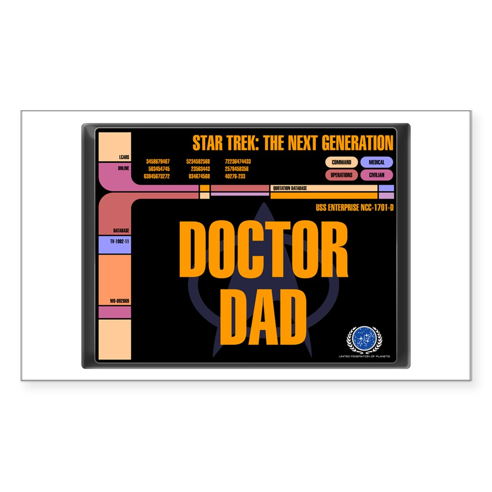 Doctor Dad Rectangle Sticker