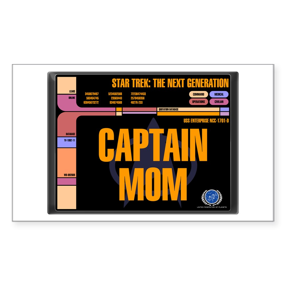 Captain Mom Rectangle Sticker