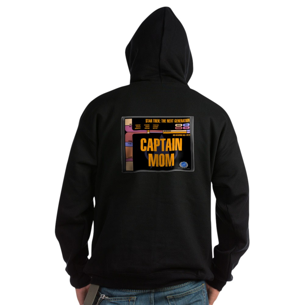 Captain Mom Dark Hoodie