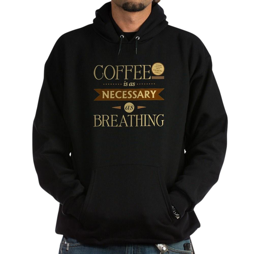 Coffee and Breathing Dark Hoodie