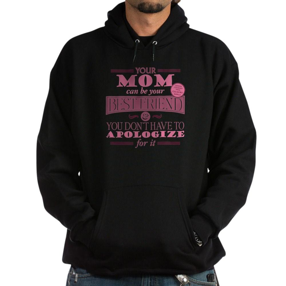 Mom Can Be Best Friend Dark Hoodie