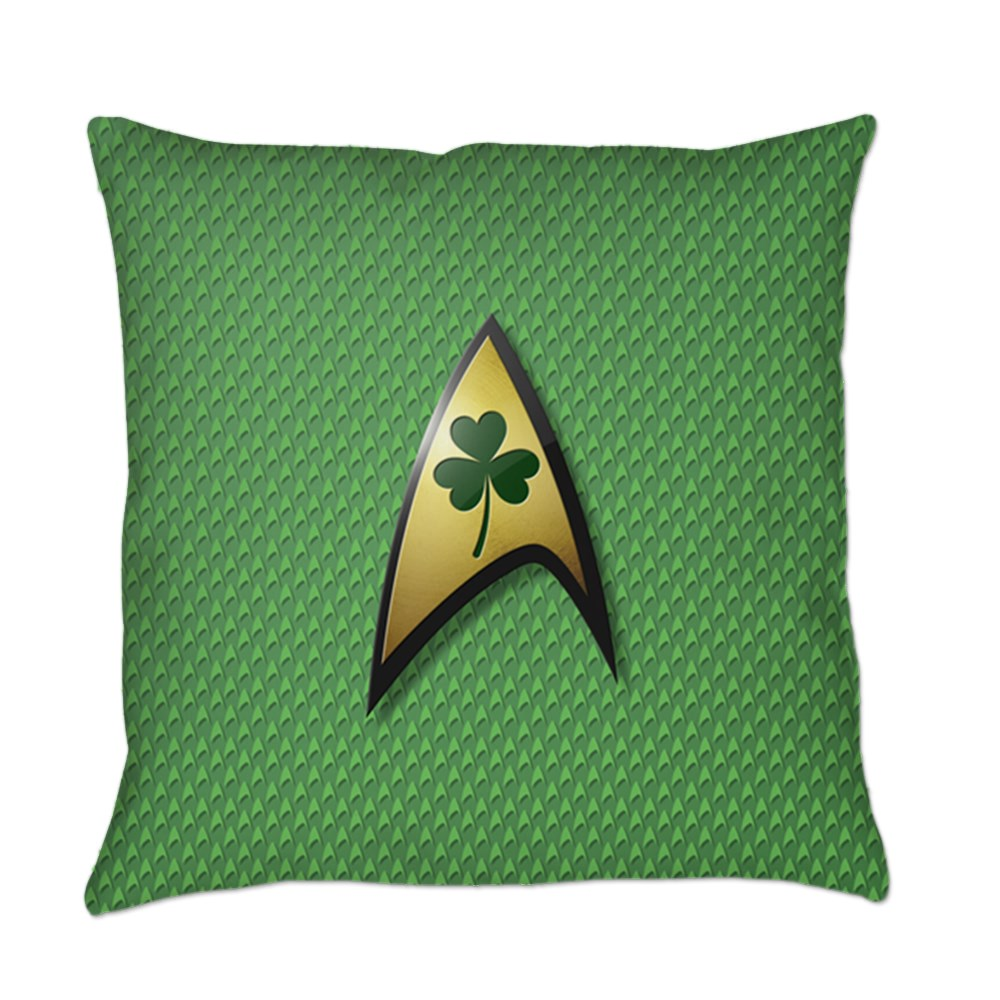 Star Trek Shamrock Everyday Pillow