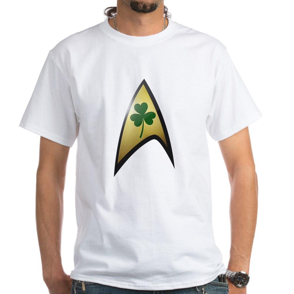 Star Trek Shamrock White T-Shirt