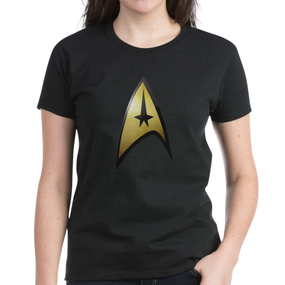 Star Trek: TOS Command Emblem Women's Dark T-Shirt