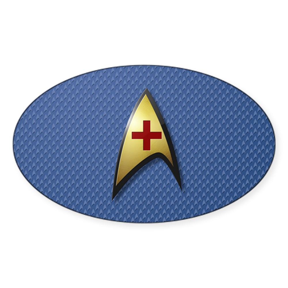 Star Trek: TOS Medical Oval Sticker