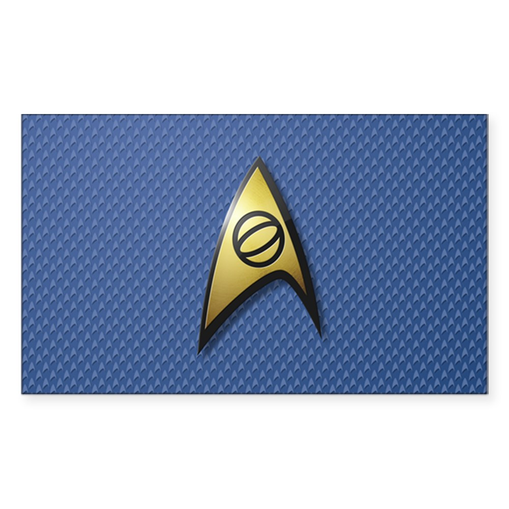 Star Trek: TOS Science Rectangle Sticker