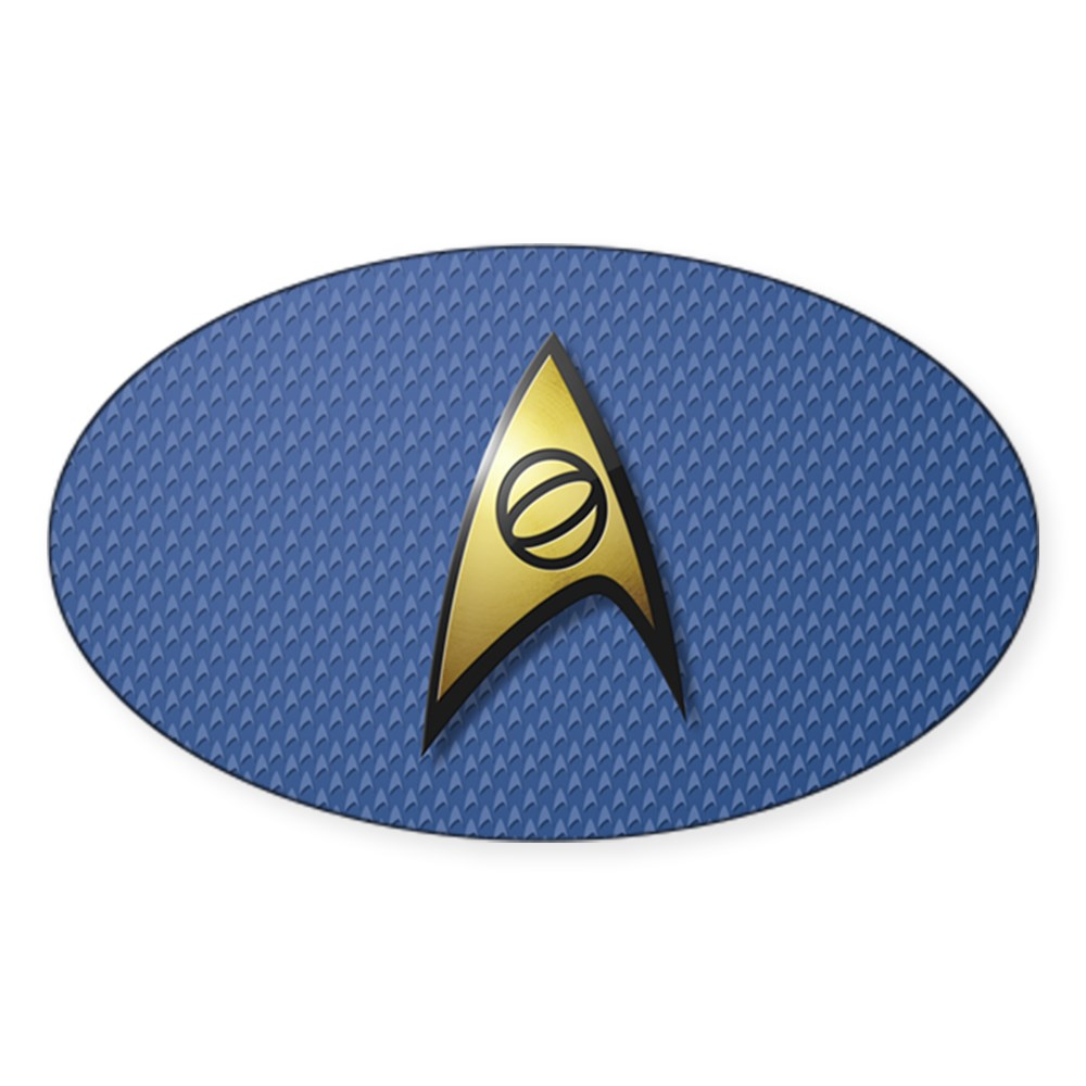 Star Trek: TOS Science Oval Sticker