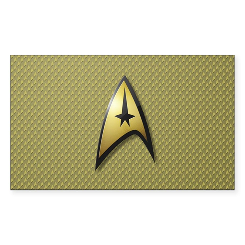 Star Trek: TOS Command Emblem Rectangle Sticker