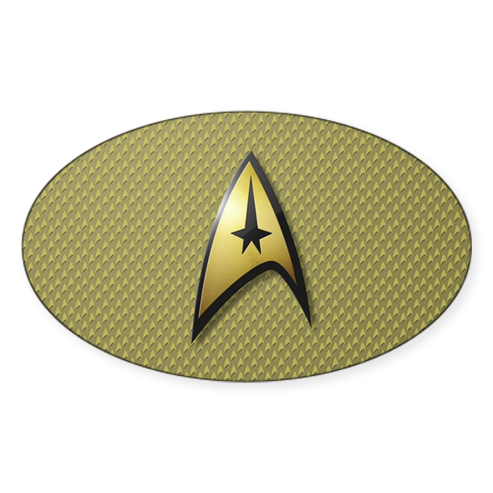 Star Trek: TOS Command Emblem Oval Sticker