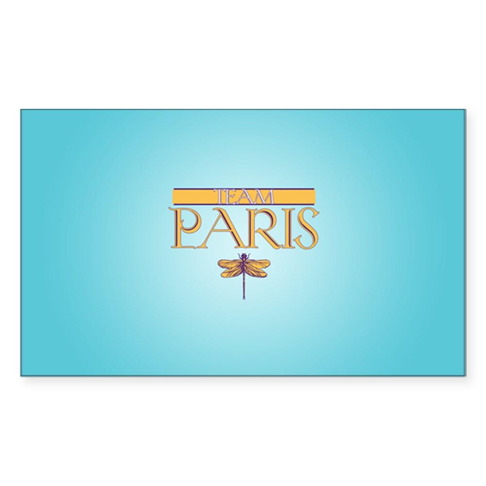 Team Paris Rectangle Sticker
