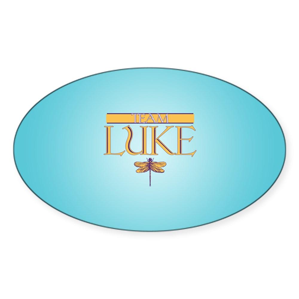 Team Luke Oval Sticker