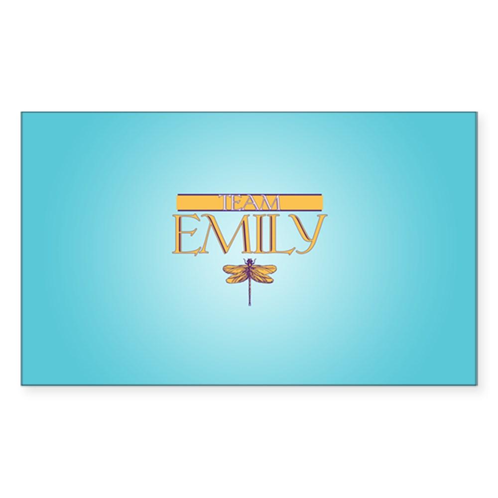Team Emily Rectangle Sticker