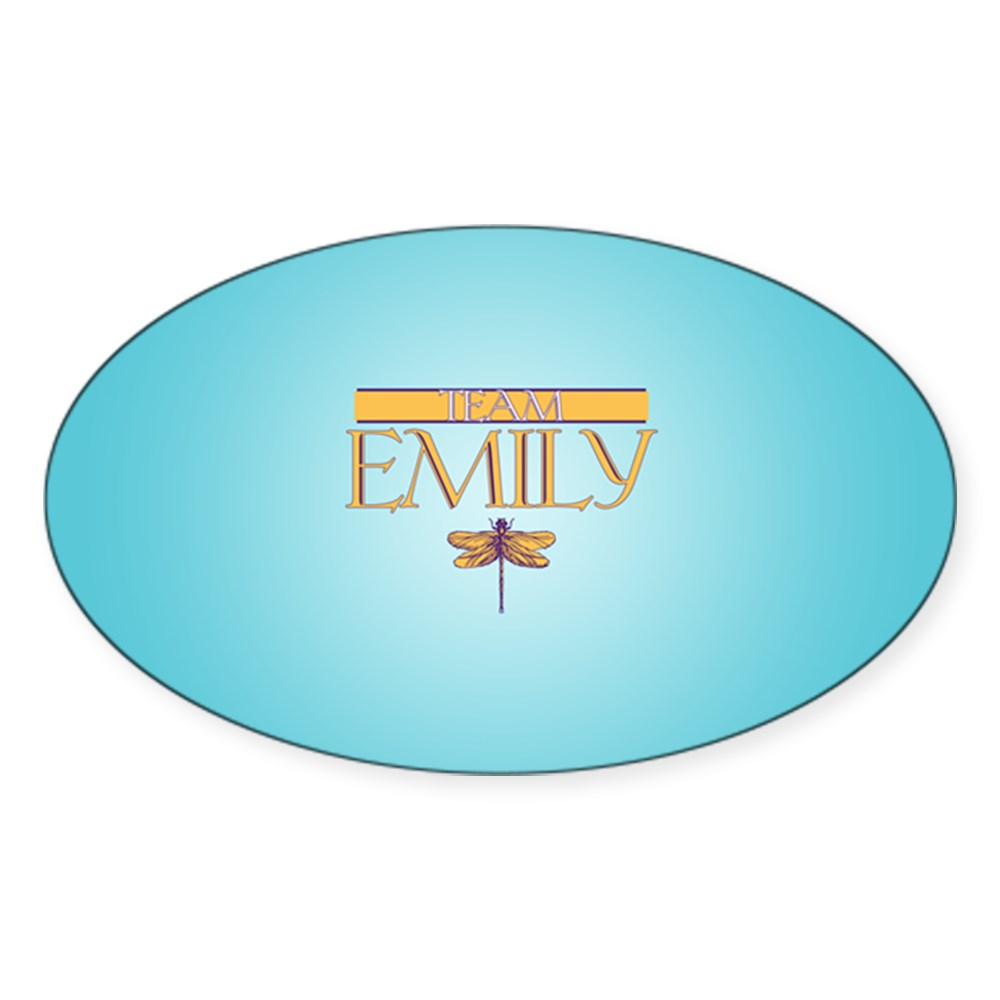 Team Emily Oval Sticker