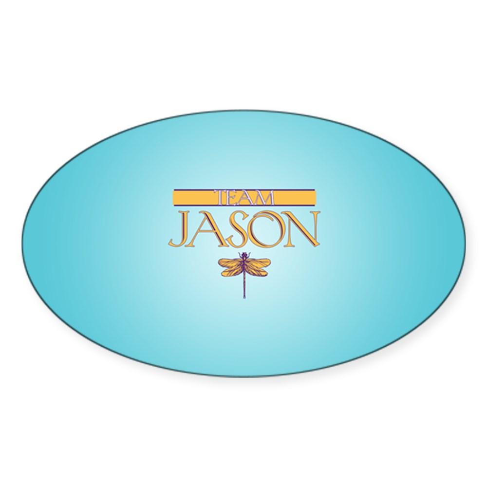 Team Jason Oval Sticker