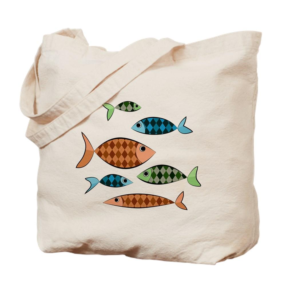 Argyle Fish Tote Bag