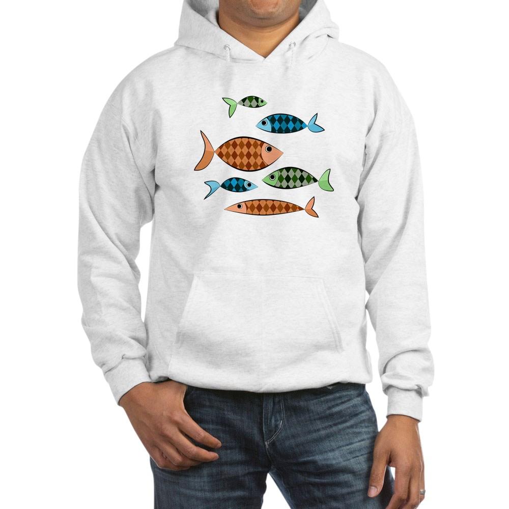 Argyle Fish Hooded Sweatshirt