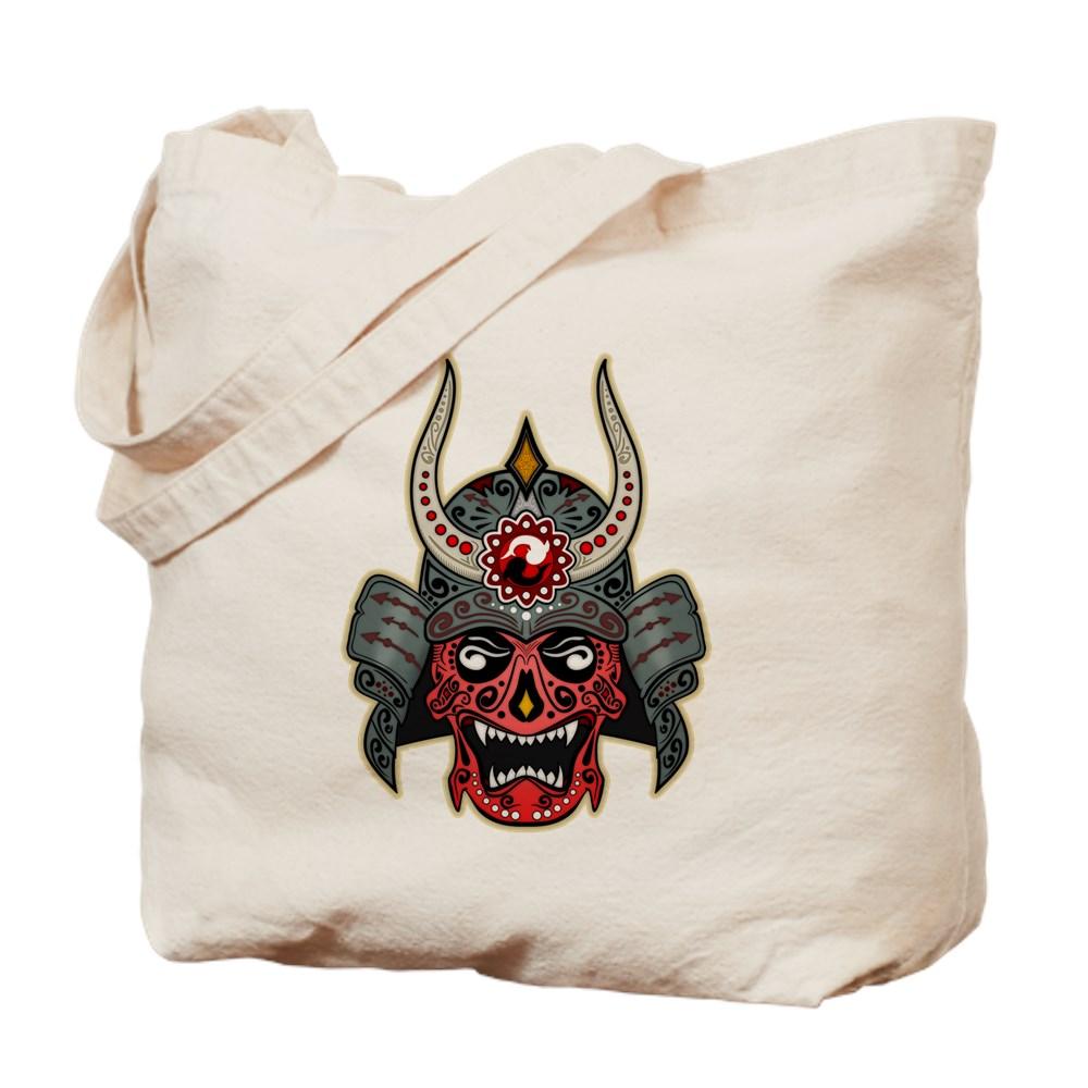 Japanese Samurai Demon Sugar Skull Tote Bag