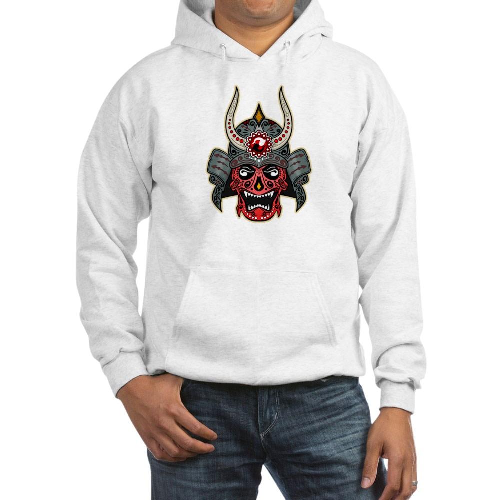 Japanese Samurai Demon Sugar Skull Hooded Sweatshirt