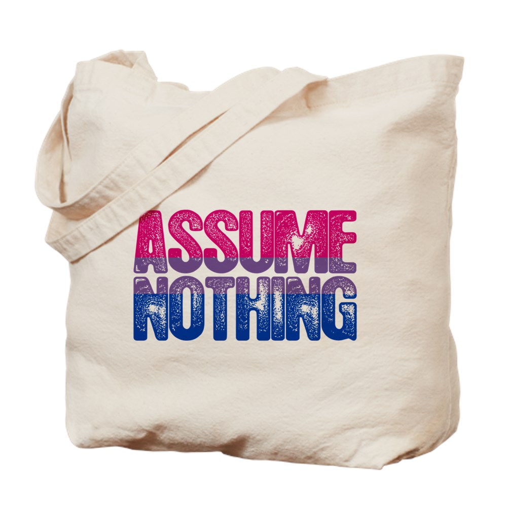 Assume Nothing - Bisexual Pride Tote Bag