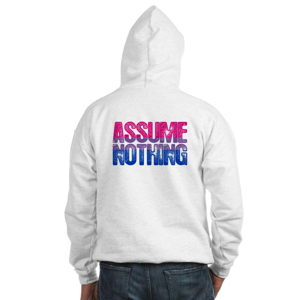 Assume Nothing - Bisexual Pride Hooded Sweatshirt