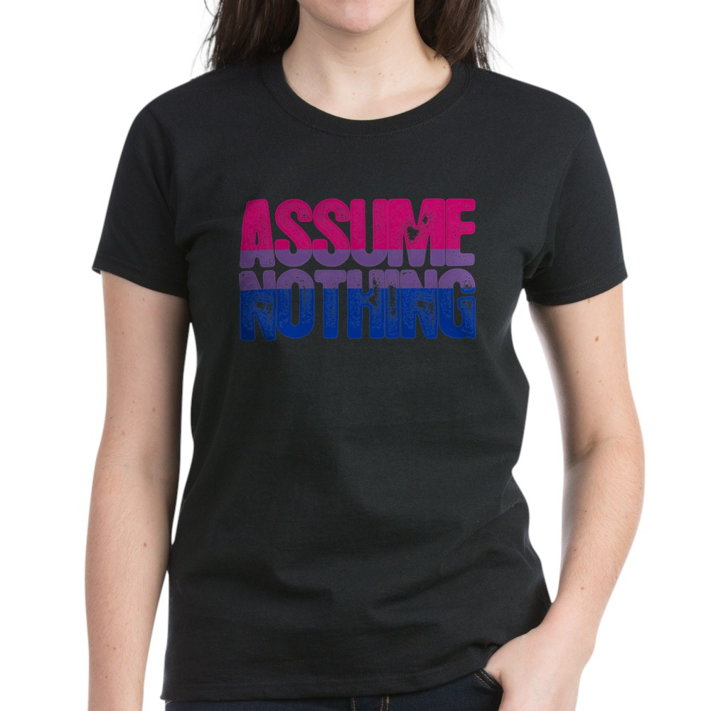 Assume Nothing - Bisexual Pride Women's Dark T-Shirt
