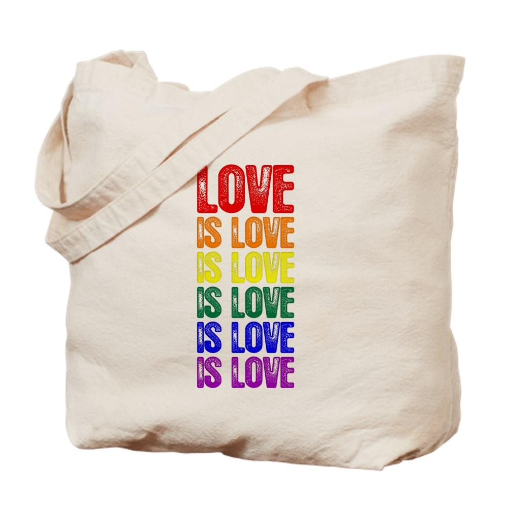 LGBT Gay Pride Flag Love is Love is Love Tote Bag