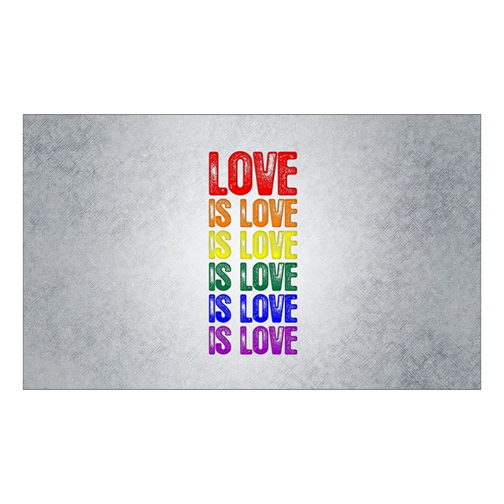 LGBT Gay Pride Flag Love is Love is Love Rectangle Sticker