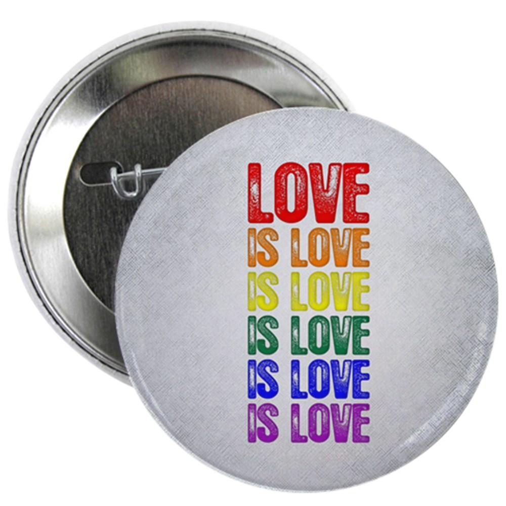 LGBT Gay Pride Flag Love is Love is Love 2.25